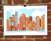 Boston- Hand-printed Art Print - nateduval