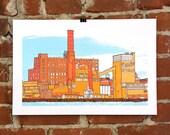 Brooklyn- Hand-printed Art Print