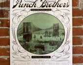 Punch Brothers- Hand-Printed Tour poster- Green