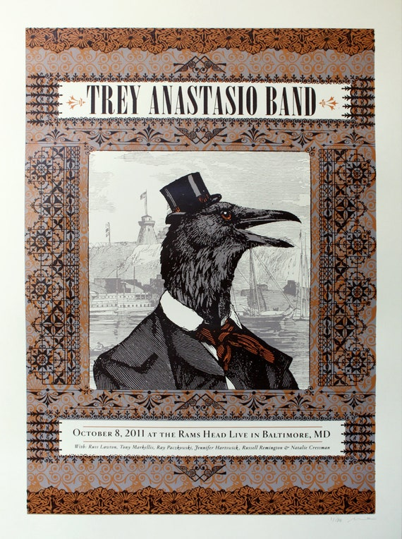 Trey Anastasio Band- Official Poster- Baltimore, MD