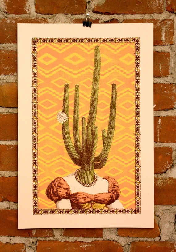 Miss Arizona- Hand-printed Art Print