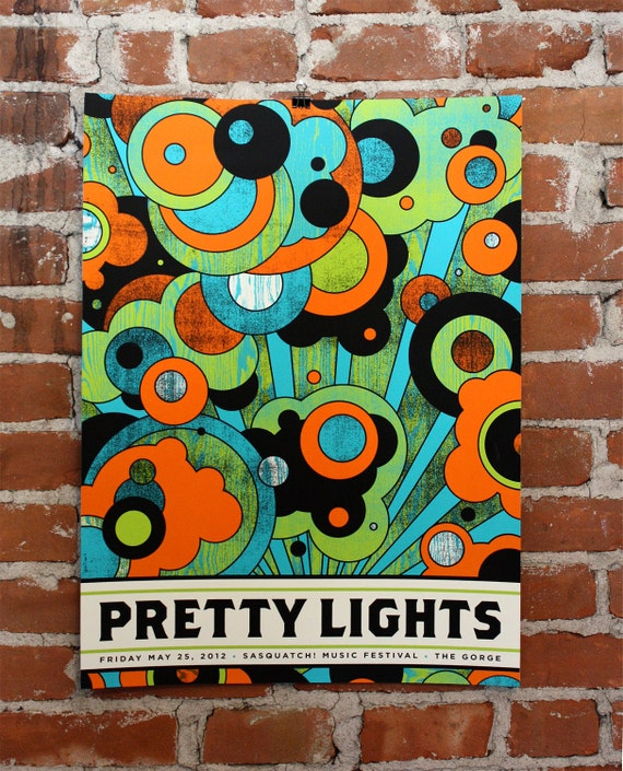 Pretty Lights- Sasquatch- Hand-Printed Official Poster