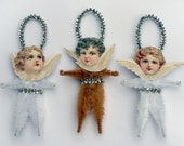 Victorian Christmas Angel Chenille Ornaments