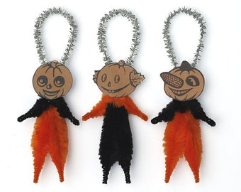 Primitive Halloween Decorations - Handmade Halloween Ornaments