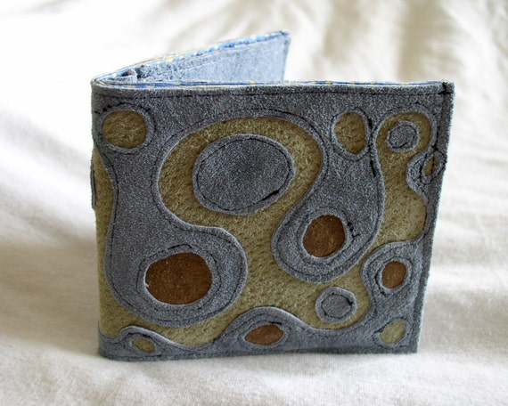 Billfold Wallet in Recycled Suede