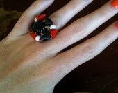 Vintage Red White and Blue Patriotic Adjustable Ring Olympic Team USA