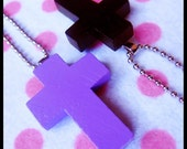 HARD CANDY Wicked Cross Handmade Necklace Charm Pendant