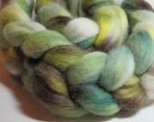 SALE Corriedale Wool Handpainted Top Roving Spinning Felting 117231
