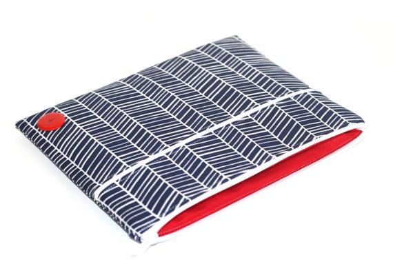 ipad mini case / ipad mini cover / ipad mini sleeve - Navy Herringbone