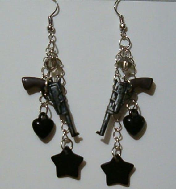 Supernatural Pistol Earrings