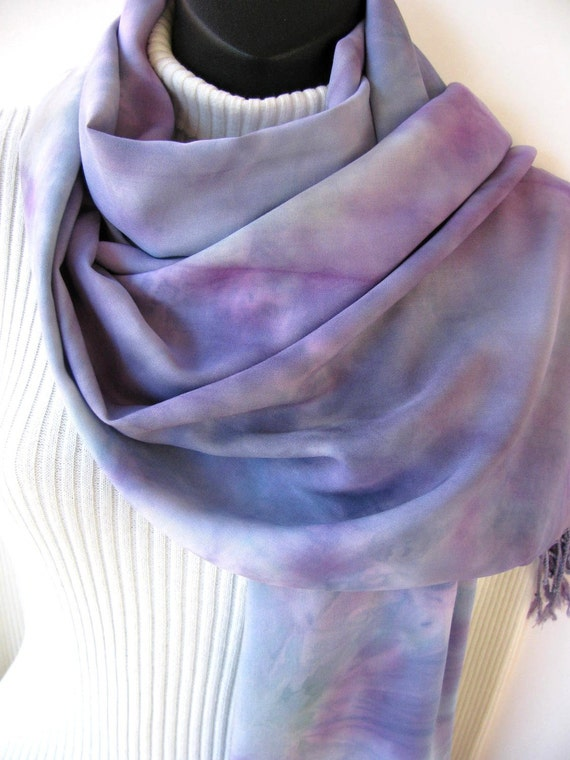 Mist-Hand Dyed Rayon Wrap, Spring and Summer Fashion for Women,watercolor effect