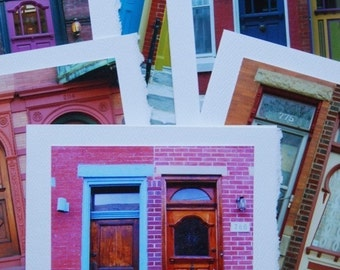 Cards Colorful Doors Handmade Photo Card Set
