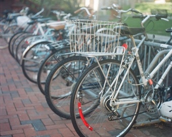 Bicycles Behind the Library Fine Art Photograph Philly University of Penn