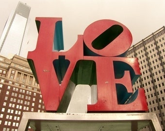 Photograph LOVE Park Print City of Philadelphia Landmark Downtown
