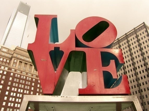 LOVE Park Philly Photograph Choose Your Size