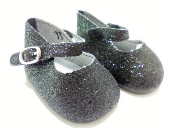"""A wonderful pair of sparkley dress shoes for your 18"""" Dolls add a pair of these to that wonderful outfit SHIPPING INCLUDED in price"""