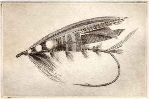 fly fisherman drawing - photo #42