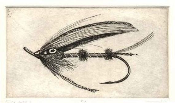 Fly Fishing Print  - Etching - Dancer