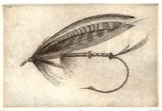 fly fisherman drawing - photo #24