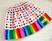 I Heart Rainbows Skirt for Babies, Toddlers and Girls by babe-a-gogo