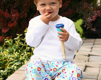 Monsters Extra Comfy Wide Leg Lounge Pants for Babies and Toddlers Boys or Girls by babe-a-gogo