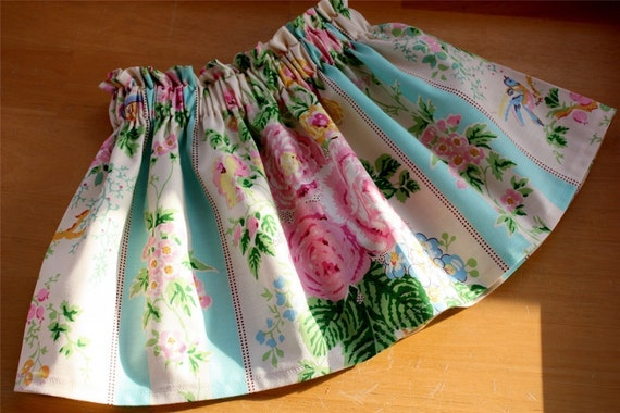 FREE SHIPPING Spring Flowers Skirt by babe-a-gogo Perfect for EASTER
