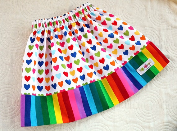 RESERVED for Vim I Heart Rainbows Skirt for Babies, Toddlers and Girls by babe-a-gogo