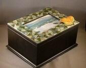 Spanish Leaves - Mosaic Keepsake Photo Box