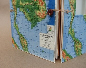 Southeast Asia Versatile Travel Journal with Pockets and Envelopes, Handmade for You