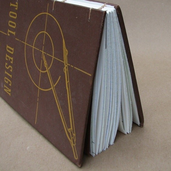 Handmade Journal Reinvented from Vintage Book Tool Design