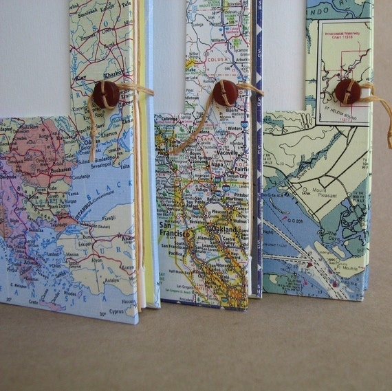 Pick Your Place Versatile Travel Journal Handmade for Artists, Scrapbookers and Writers