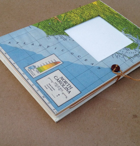 North Carolina Versatile Travel Journal Notebook Handmade for Artists, Scrapbookers and Writers -- Ready to Ship