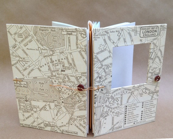 London Travel Journal with Vintage Map - Made to Order for You