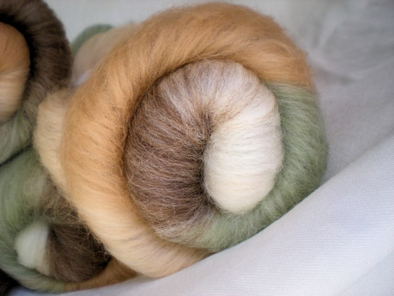 Spinning batts, all the soft colors of Free Range Eggs, 1.7 oz each