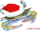 Crabby Claus Cards