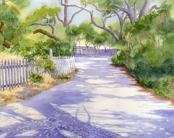 Lawton Lane on Ocracoke Island giclee print
