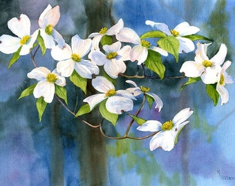 Tree of Faith dogwood blossoms giclee print