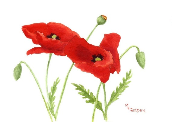 Small Poppies 2 ACEO