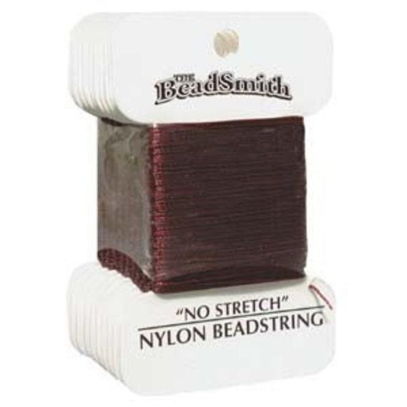 6 Cards - Nylon Beadstring Garnet