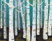 Lisa Congdon Large Birch Tree Forest Archival Print