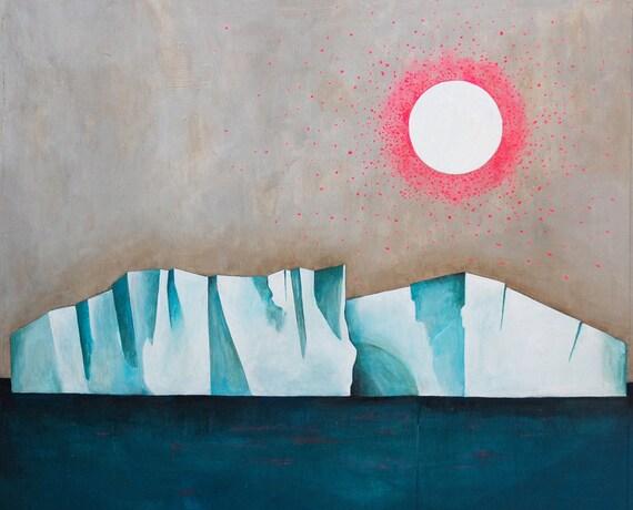 Lisa Congdon Iceberg 11x14 Archival Art Print