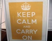 Keep Calm And Carry on Poster - Sunny Yellow.