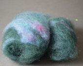 Felty Bits: Mini hand-carded batts 1/2 oz  --  wool blend