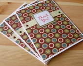Dotted Thank You Cards - Set of 3