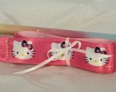 Fun Ribbon Wand for May Day or Gymnastics Bright Pink Hello Kitty Ribbon