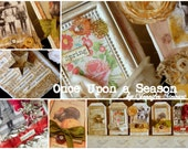 TEXAS FIRES BENEFIT -  Once Upon a Season - Paper Cowgirl Art Retreat class project Kit