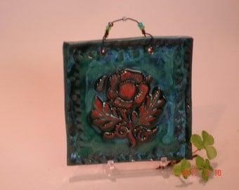 Rose Ceramic Tile in Green