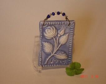 Lovely Love Rose Tile (periwinkle)
