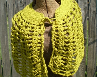 Bright and Cozy Crocheted Capelet