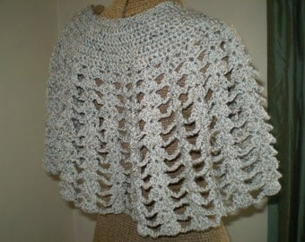 Soft and Warm Crocheted Capelet